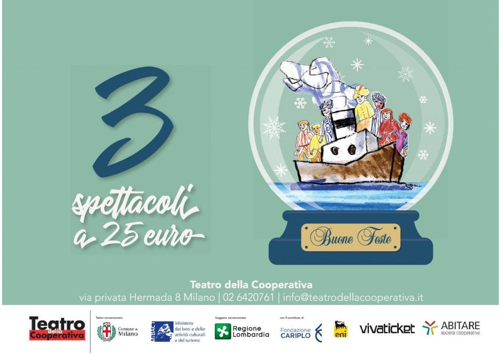 3 spettacoli a 25 euro